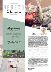 Rebecq à la Une - n°72 - Janvier 2021