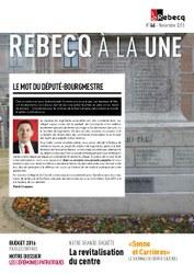 Rebecq à la Une - n°46 - novembre 2015