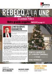 Rebecq à la Une - n°47 - janvier 2016