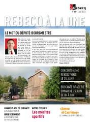 Rebecq à la Une - n°49 - juin 2016