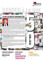 Rebecq à la Une - n°50 - septembre 2016