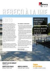 Rebecq à la Une - n°59 - juin 2018